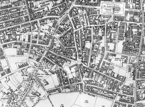 1903 map showing location of site