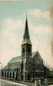 Early postcard showing Trinity Church