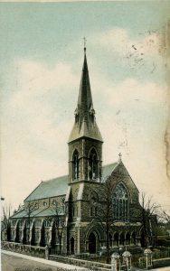 Early postcard showing Trinity Church