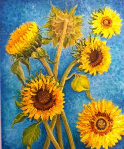 Sun Flowers by Veronica Mulvehill